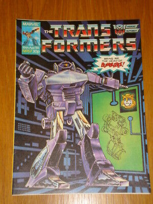 Transformers British Weekly #57 Marvel Uk Comic 1986
