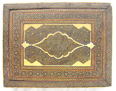 18th/19th c Persian Micro Mosaic Slide Lid Box