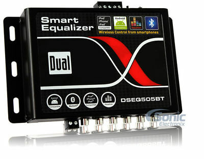Dual DSEQ505BT 7-Band Parametric Smart Equalizer Processor w/ Bluetooth Control