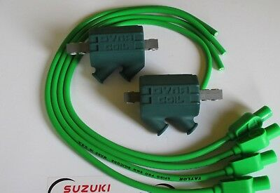 Kawasaki Z1100 Dyna Performance Ignition Coils and Taylor Leads. Green !