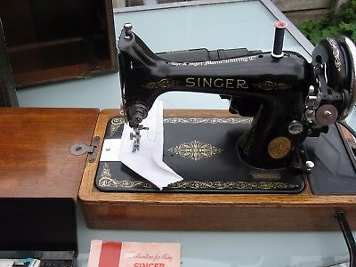 Vintage Singer Sewing Machine 99K Knee Lever Operated Tested Working Perfectly