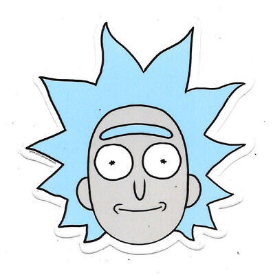 Rick and Morty Animated TV Series Rick Face Screaming Car Magnet NEW UNUSED