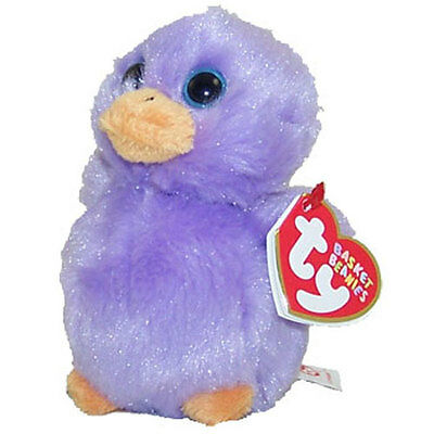 TY Basket Beanie Baby - LAVENDAR the Purple Chick (4 inch) - MWMTs Easter Toy