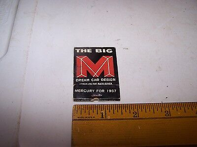 1957 LENOX BROTHERS MERCURY Matchbook Cover LEBANON INDIANA