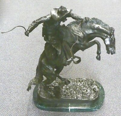Frederic Remington THE BRONCHO BUSTER:  Bronze Reproduction by Bonnard Co 1980s