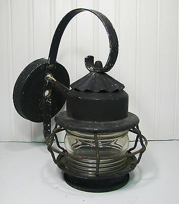 Vintage Porch Light Jelly Jar Cage Nautical Look