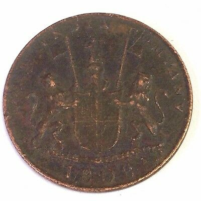 1808 British East India Company 10 Cash 'Madras Presidency' copper trade coin