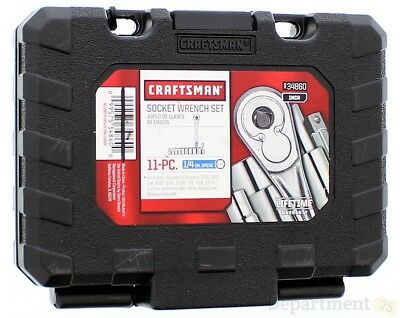 Craftsman 11-PC Socket Wrench Set 1/4 In. Drive