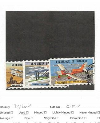 Lot of 21 Djibouti Used Air-Post Stamps #106355 X