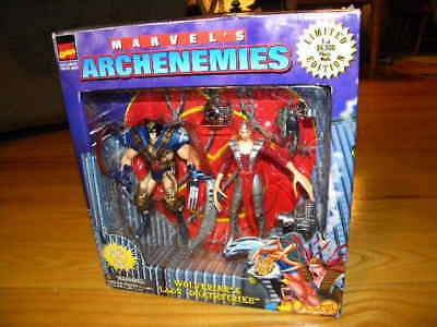 1997 Toy Biz Marvel X-Men Archenemies Two Pack Wolverine & Lady Deathstrike IP