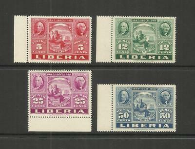 LIBERIA ~ 1947 U.S. POSTAGE STAMP CENTENARY & 87th LIBERIAN POSTAL ISSUES