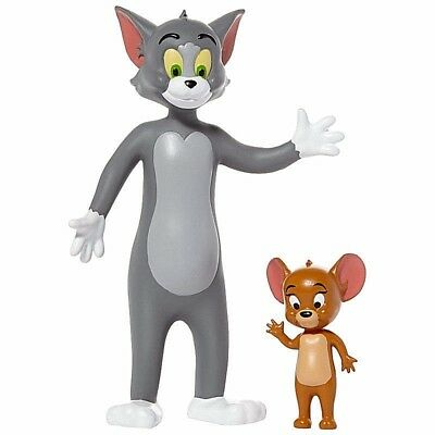 New Bendable Tom and Jerry Cartoon Pair of Fun Figures Hanna-Barbera TV Show Toy