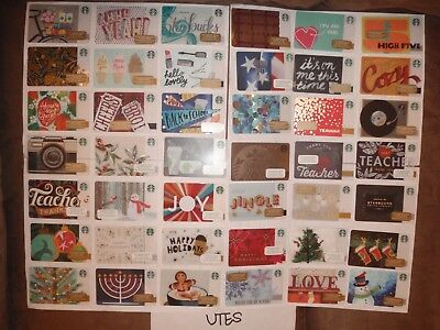 Starbucks Gift Cards Set of 195 Unswiped/Unregistered Collection New