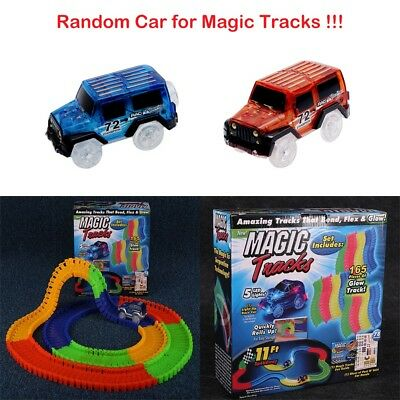 Magic Tracks 165/220 Piece Amazing Racetrack Light Up Race Car Glow in the Dark