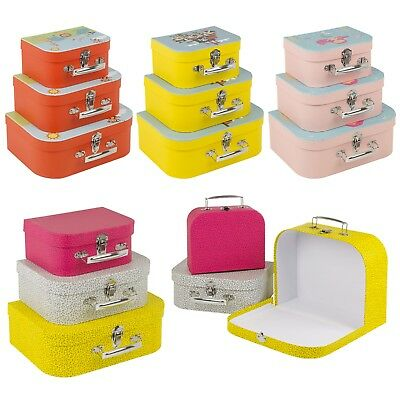 3pcs Small Children's Storage School Craft Carry Case Set Clothes Toys Books Box