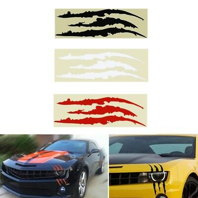 Headlight Scratch Stripe Decal Sticker Claw Stripe Slash Truck Car Vinyl HOT
