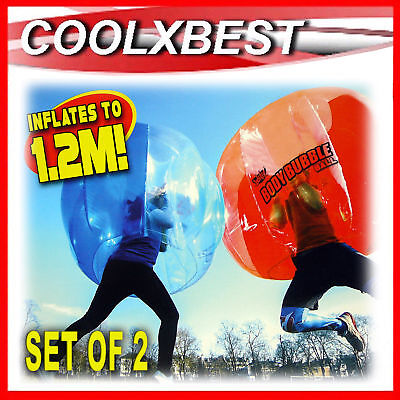 Set Of 2 Bubble Soccer Bumper Body Ball 1.2M Inflatable Outdoor Game Party