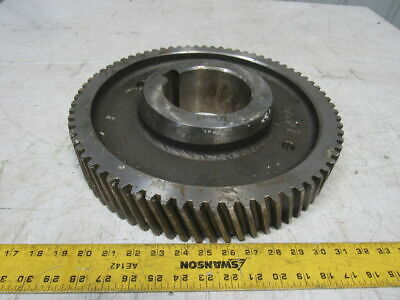 "14035 Left Hand Helical Gear 4.750"" Bore 14.750"" OD 72 Teeth"