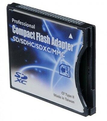 SD/SDHC/MMC/EyeFi card to Compact Flash CF Type II Adapter for Professional