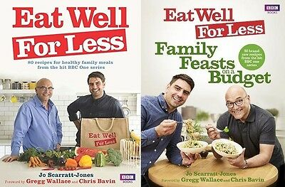 Eat Well for Less 2 Book Set by Jo Scarratt-Jones (Family Feasts on a Budget)