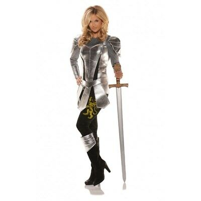 Sexy Knight To Remember Costume Armor Womens Medieval Crusader Adult Halloween
