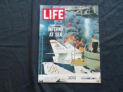 1967 August 11 Life Magazine - U.s.s. Forrestal Disaster - L 1596