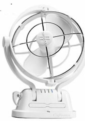 Boat Marine RV Fan Sirocco II Gimbaled Fan 3 Speed White Caframo