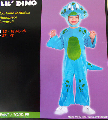 Lil' Dino Blue Dinosaur Child Toddler Costume 2T-4T NIP