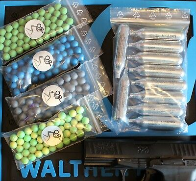 PaintNoMore Cal 0.43 SamplePack 4 x 50 Balls 10 Co2 Kapseln Walther PPQ RAM