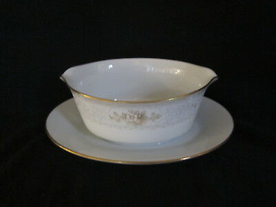 Noritake KEEGAN 2891 - Gravy Boat on Attached Stand
