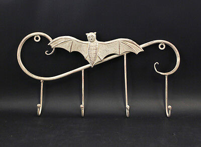Coat Hook Rail Metal Bat white Shabby Chic Vintage 9977321