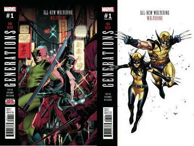 Generations Wolverine & All-New Wolverine #1 Regular & #1 Coipel Variant Set