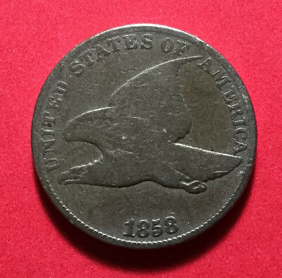 1858 US Flying Eagle Cent! Nice! Old US Coins!