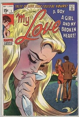 My Love #1 September 1969 VG First issue