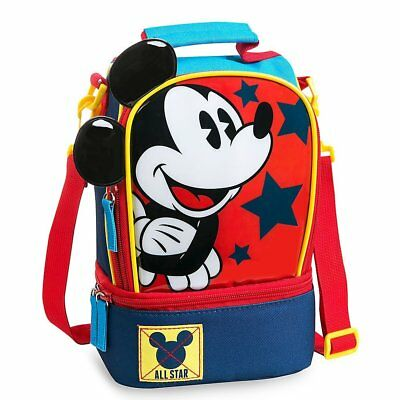 Disney Store Mickey Mouse School Lunch Tote Box Bag