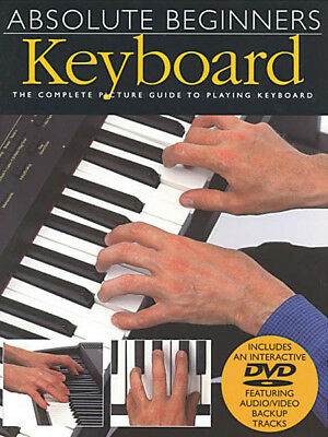 Absolute Beginners Keyboard Lessons Learn to Play Piano Video Book DVD NEW