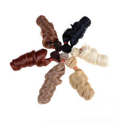 15cm Curly Doll Wigs High Temperature Heat Resistant Doll Hair BJD Diy Wigs Fad.