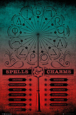FP4514 HARRY POTTER Spells And Charms MAXI POSTER SIZE 91.5 x 61cm