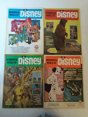 1969-1970 Lot 4 Wonderful World of DISNEY Magazines GULF OIL PREMIUMS Peter Pan