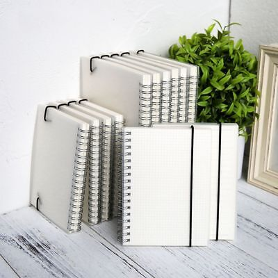 A5 A6 Transparent Cover Diary Notebook Blank Notepad Spiral Coil Book Kids Gifts
