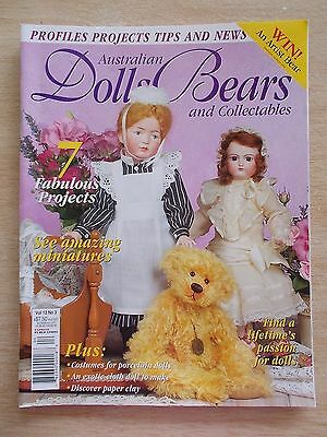 ADB&C Vol 12 #3~Doll & Bear Patterns~Nurse~Elf~Felix~Egyptian Lady~Charlotte....