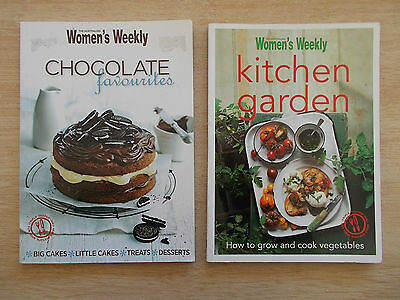 2 x Australian Women's Weekly Cookbooks~Chocolate Favourites & Kitchen Garden