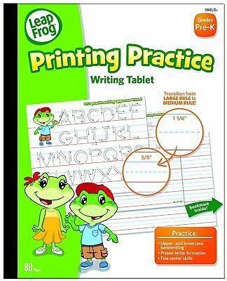 LeapFrog Printing Practice Writing Tablet with Ruled Guidelines for Grades Pre-K