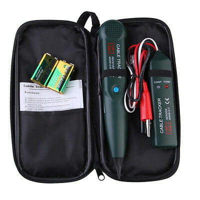 Multifunction Telephone Cable Tracker Network Wire RJ Toner Tracer /Tester & Bag