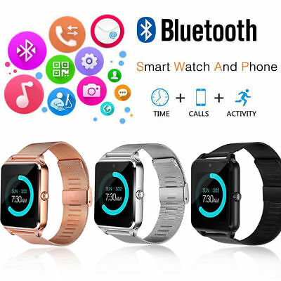 Bluetooth Smart Watch Phone Z60 Smartwatch Stainless Steel for IOS Android UK
