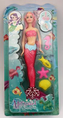PRETTY PINK MERMAID PRINCESS DOLL-PLAY WITH IN THE BATH Age 3+