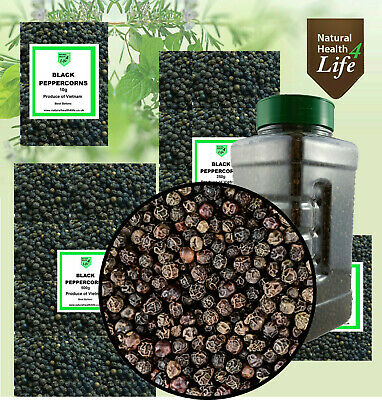 Black Peppercorns Whole Spice Various Weights Free Postage
