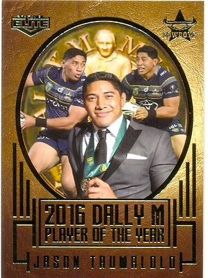 2017 ESP NRL ELITE Album card 2016 Dally M Player of the year - Jason Trumalolo