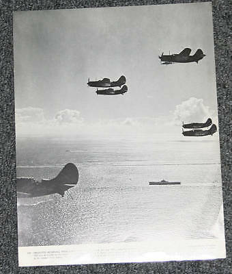 1944 Carrier Helldivers Head to Guam 11x14 Lithograph Print