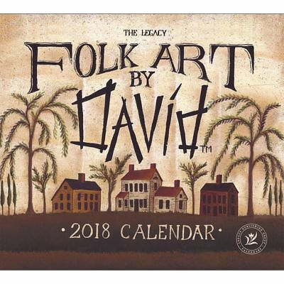 Folk Art by David Mini Wall Calendar